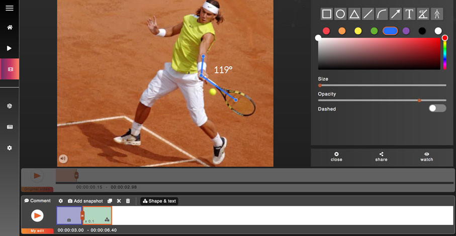 sport on movetube app Tennis
