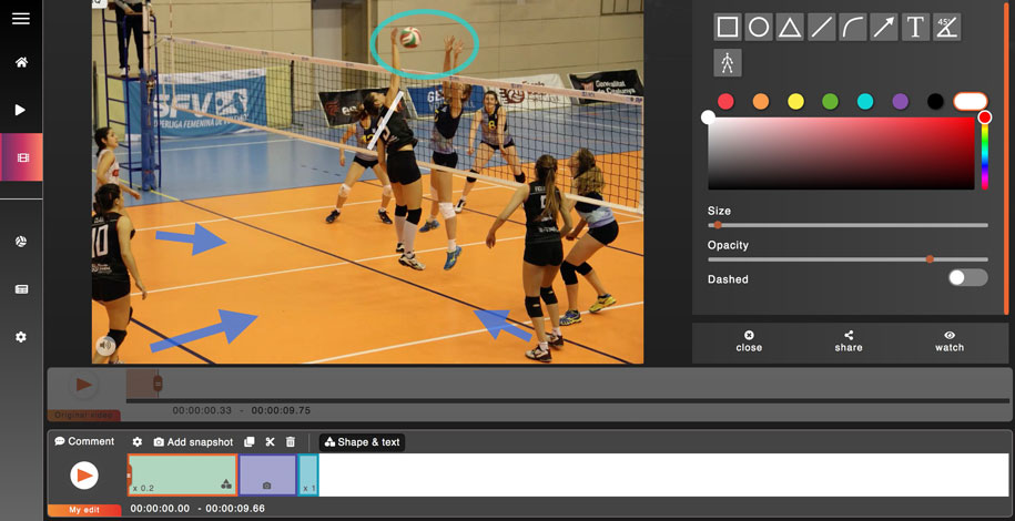 sport on movetube app Volley